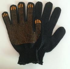 Перчатки черные с ПВХ покрытием