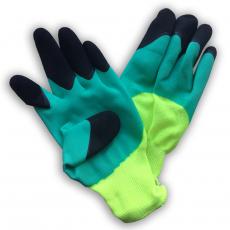 Перчатки нейлоновые с двойным латексным покрытием
